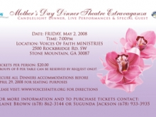 Mother's Day Dinner Theater Flyer